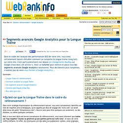 Tutoriel : analyser la Long Tail avec Google Analytics