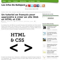 tutoriel français créer site Web en HTML et CSS