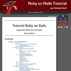 Tutoriel Ruby on Rails : Apprendre Rails par l'exemple