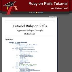 Tutoriel Ruby on Rails: Apprendre Rails par l'exemple