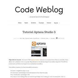 Tutoriel Aptana Studio 3