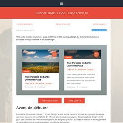 Tutoriel HTML5 / CSS3 - Carte Article UI · Louistiti.fr