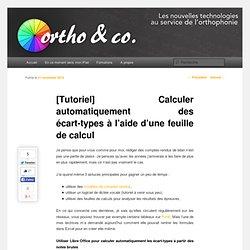 [Tutoriel] Calculer automatiquement des écart-types à l'aide d'une feuille de calcul