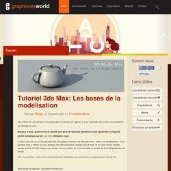 Tutoriel 3ds Max: Les bases de la modélisation