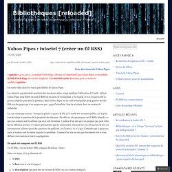 tutoriel 7 (créer un fil RSS)