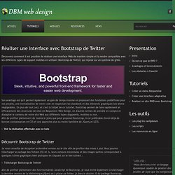 Tutoriel - Creer un site avec Bootstrap de Twitter
