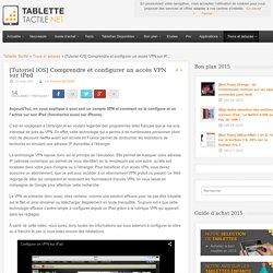 Tutoriel: Accès VPN sur iPad