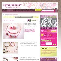 Tutoriel FIL ALU : parure (Loisirs créatifs) - Femme2decoTV