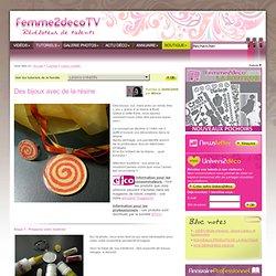 Tutoriel Des bijoux avec de la résine (Loisirs créatifs) - Femme2decoTV