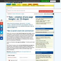 Tutoriel : comment créer une page pro sur Google+ en 10 étapes