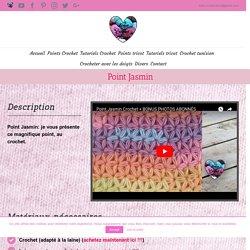 Point Jasmin: tutoriel au crochet, présenté par Lidia Crochet Tricot