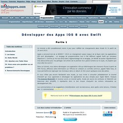 Tutoriel Swift - Développer des Apps iOS 8 Partie 1