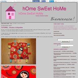 TUTORIEL : Doudou à étiquettes - HOME SWEET HOME