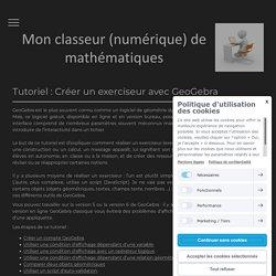 Tuto : créer un exerciseur GGb - Mon classeur de maths