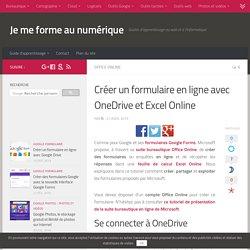 Tutoriel créer un formulaire en ligne avec OneDrive et Excel