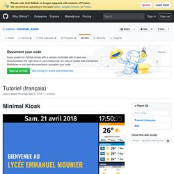 Tutoriel (français) · valsou/minimal_kiosk Wiki