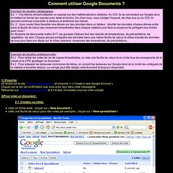 Tutoriel Google Documents