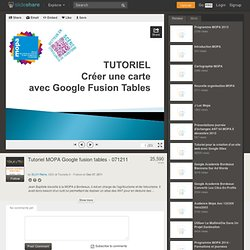 Tutoriel MOPA Google fusion tables - 071211