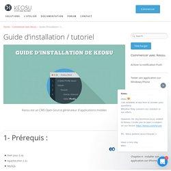 Tutoriel - Guide d'installation de Keosu