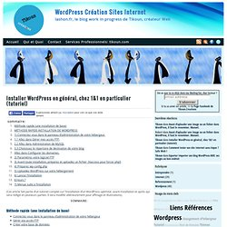 Tutoriel Installer Wordpress chez 1&1