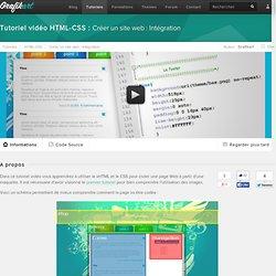 Tutoriel Vidéo HTML-CSS : Créer un site web : Intégration