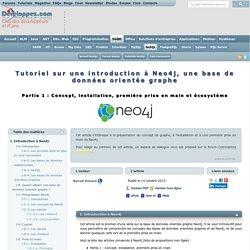Tutoriel sur une introduction à Neo4j, une base de données orientée graphe
