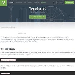 Tutoriel Vidéo JavaScript TypeScript