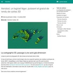 Tutoriel de prise en main du logiciel de rendu 3D Aerialod - Geotribu