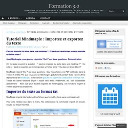 Tutoriel Mindmaple : importer et exporter du texte