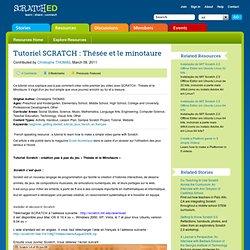 Tutoriel SCRATCH : Thésée et le minotaure