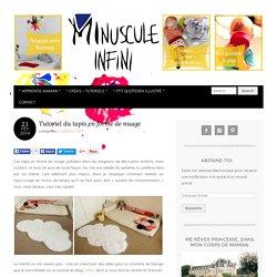 Tutoriel du tapis en forme de nuage - Minuscule Infini