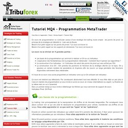 Tutoriel MQ4 - Programmation