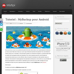Tutoriel : MyBackup pour Android