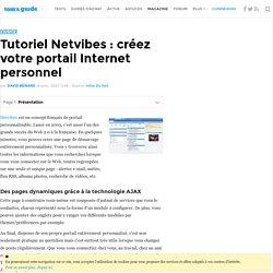 Tutoriel Netvibes : créez votre portail Internet personnel : Présentation