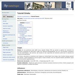 Tutoriel Omeka - AHP numérique