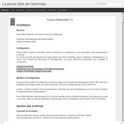 Tutoriel OPENLDAP 2.4