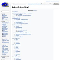 Tutoriel OpenSCAD