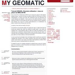 Tutoriel GRASS - Première utilisation : mise en place du MNE SRTM - My Geomatic