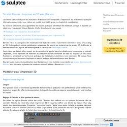 Tutoriel Blender : Préparer votre fichier d'Impression 3D avec Blender