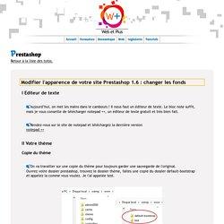 Tutoriel gratuit prestashop, modifier le thème Prestashop 1.6 : fond
