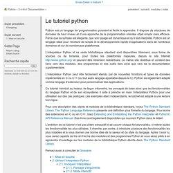 Le tutoriel python — documentation Python 3.4.4rc1