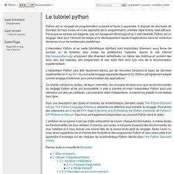 Le tutoriel python — documentation Python 3.5.2