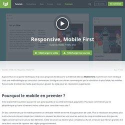 Tutoriel Vidéo HTML-CSS Responsive, Mobile First
