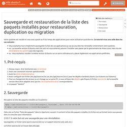 tutoriel:comment_sauver_et_restaurer_la_liste_des_paquets