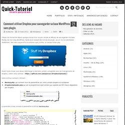 #388 Comment utiliser Dropbox pour sauvegarder sa base Wordpress sans plugin
