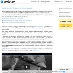 Tutoriel Sculptris : Préparer votre fichier d'impression 3D avec Sculptris