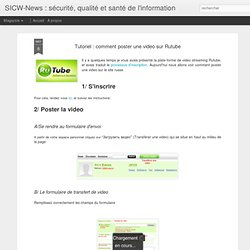 Tutoriel : comment poster une video sur Rutube