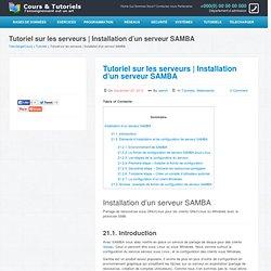 Installation d'un serveur SAMBA
