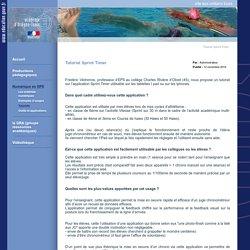 Tutoriel Sprint Timer - Site EPS Orléans-Tours