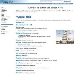 Tutoriel CSS et style des balises HTML